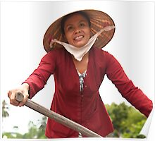 Oars lady of the Mekong Delta Poster