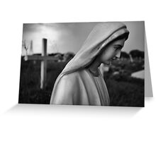 madonna in a graveyard Greeting Card
