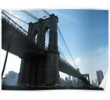 Brooklyn Bridge, View from Brooklyn Bridge Park, New York  Poster