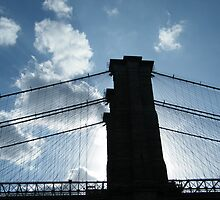 Brooklyn Bridge, View from Brooklyn Bridge Park, New York  by lenspiro