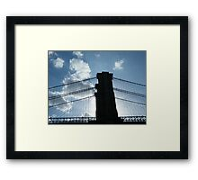 Brooklyn Bridge, View from Brooklyn Bridge Park, New York  Framed Print