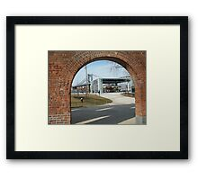 View of Carousel in Brooklyn Bridge Park, Manhattan Bridge, Brooklyn, New York Framed Print