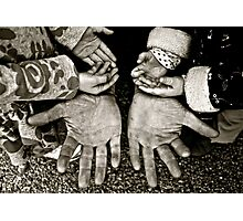 These hands, a Fathers devotion Photographic Print