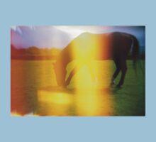 Horse in Light Leak Heaven Kids Tee