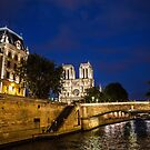 France. Paris. River Cruise on Seine. Cathedral Notre Dame de Paris. by vadim19