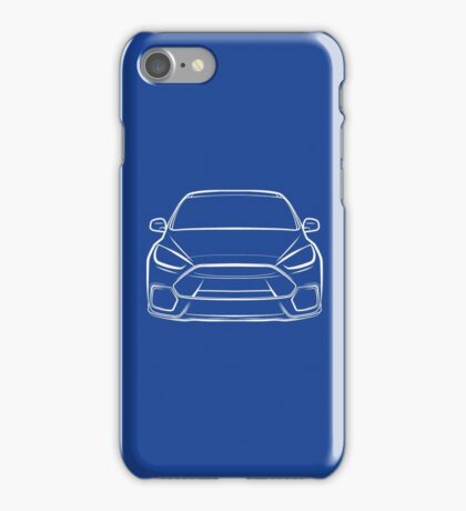 2016 Ford Focus RS White iPhone Case/Skin