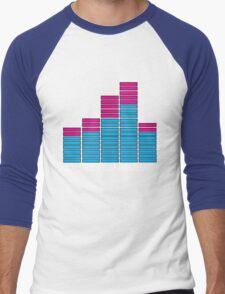 Equalizer Dubstep Music (dark) Men's Baseball ¾ T-Shirt