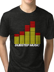 Equalizer Dubstep Music (red/yellow) Tri-blend T-Shirt