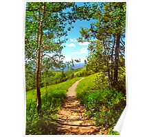 """""""Hiking Ridge Route Trail"""" Vail, Colorado Poster"""