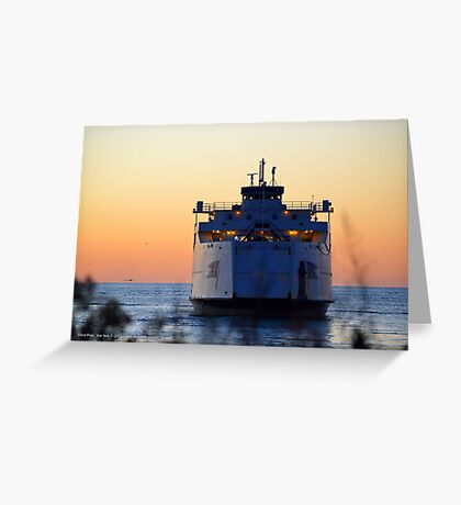 Cross Sound Ferry   Orient Point, New York  Greeting Card