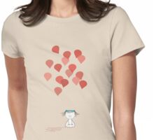 Sad Girl - Balloons Womens Fitted T-Shirt