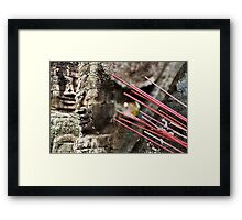 At the Bayon Framed Print