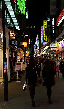 Seoul's Streets come alive at night