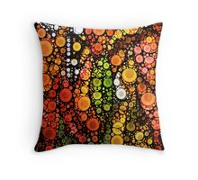 Fall Leaves and A White Moon Throw Pillow