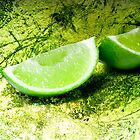 Lime on green by Janette Anderson