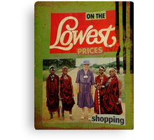 on the lowest prices shopping Canvas Print