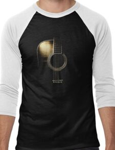 Acoustic Guitar Lite (please see description) Men's Baseball ¾ T-Shirt