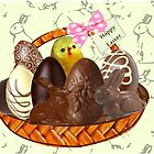 Chocolate Easter egg Card ( 507 Views) by aldona