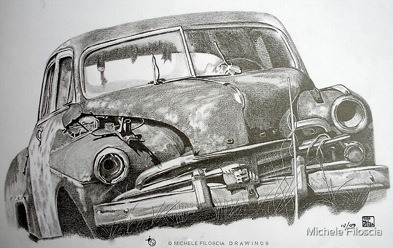 An Old Abandoned Car by Michele Filoscia