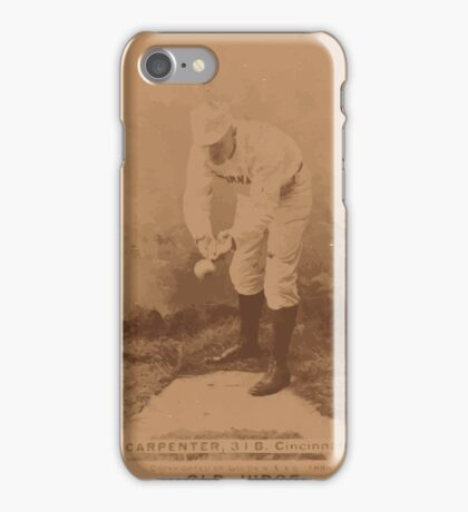 Benjamin K Edwards Collection Hick Carpenter Cincinnati Red Stockings baseball card portrait 001 iPhone Case/Skin