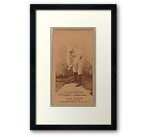 Benjamin K Edwards Collection Hick Carpenter Cincinnati Red Stockings baseball card portrait 001 Framed Print