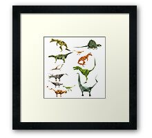 Colored Dinosaurs chart Framed Print