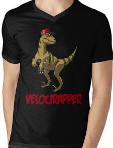 Velocirapper Mens V-Neck T-Shirt
