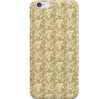 Chic elegant gold faux glitter leaves pattern iPhone Case/Skin