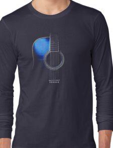Blue Acoustic Guitar Hi-Lite Long Sleeve T-Shirt