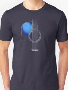 Blue Acoustic Guitar Hi-Lite Unisex T-Shirt