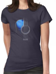Blue Acoustic Guitar Hi-Lite Womens Fitted T-Shirt