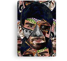 Male Face Fragments Canvas Print