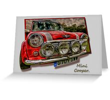 Mini Cooper - Vintage Car Rally Wakefield. Greeting Card