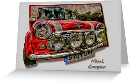 Mini Cooper - Vintage Car Rally Wakefield. by Nigel Butterfield