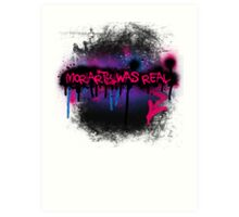 Moriarty was real (berry) Art Print