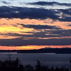 Puget Sound Sunset by sketchpoet