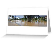 Wagga Wagga Floods, Caravan Park Pano Greeting Card