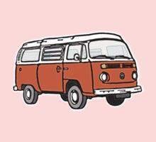 Bay Window Campervan Orange One Piece - Long Sleeve