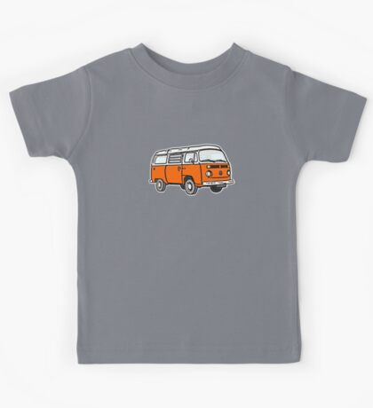 Bay Window Campervan Orange Kids Tee