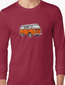 Bay Window Campervan Orange Long Sleeve T-Shirt