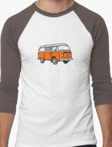 Bay Window Campervan Orange Men's Baseball ¾ T-Shirt
