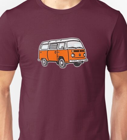 Bay Window Campervan Orange Unisex T-Shirt