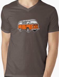 Bay Window Campervan Orange Mens V-Neck T-Shirt