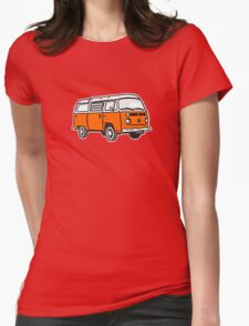Bay Window Campervan Orange Womens Fitted T-Shirt