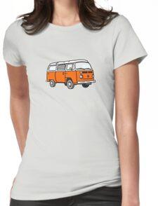 Bay Window Campervan Orange Womens Fitted T-Shirt