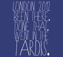 Olympics? I went in the Tardis. by inkandstardust