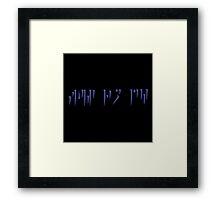 Fus Ro Duh - Skyrim Dragon Writing 2 Framed Print