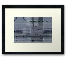 Gray Abstract Flowers Framed Print