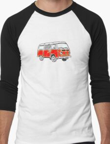 Bay Window Campervan Orange Worn Well Men's Baseball ¾ T-Shirt