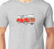 Bay Window Campervan Orange Worn Well Unisex T-Shirt